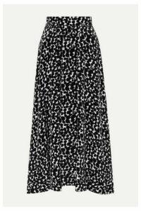 Raquel Diniz - Printed Velvet Midi Skirt - Black