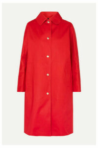 Mackintosh - Fairlie Bonded Cotton Coat - Red