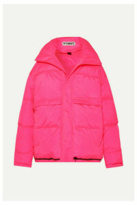 Vetements - Hooded Quilted Shell Down Coat - Pink