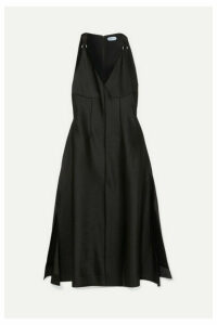 Mugler - Satin Midi Dress - Black