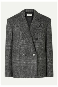SAINT LAURENT - Checked Wool-blend Blazer - Gray