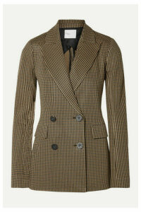 Rosetta Getty - Double-breasted Houndstooth Jacquard-knit Blazer - Brown