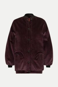Blazé Milano - Downtown Cotton-corduroy Bomber Jacket - Dark purple