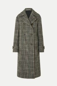 Stella McCartney - Oversized Double-breasted Herringbone Wool-blend Coat - Black