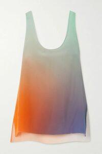 Saloni - Isa Ruffled Printed Silk-chiffon Midi Dress - Pink