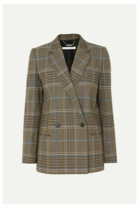 Givenchy - Double-breasted Checked Wool-blend Blazer - Beige