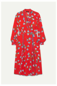 rag & bone - Hugo Floral-print Crepe De Chine Wrap Dress - Red