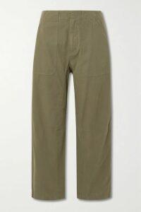 Alessandra Rich - Gathered Polka-dot Silk-satin Midi Dress - Pink