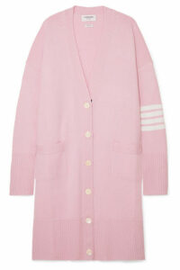 Thom Browne - Oversized Striped Merino Wool Cardigan - Baby pink