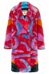 Stella McCartney - + The Beatles Faux Fur Coat - Red
