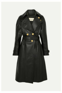Alexandre Vauthier - Double-breasted Leather Coat - Black