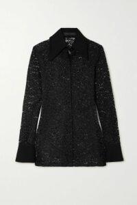 Moschino - Printed Cotton-jersey Hoodie - Black