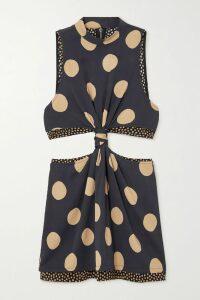 Stella McCartney - Cold-shoulder Ribbed Cashmere And Wool-blend Sweater - Camel