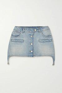 Preen Line - Verna Asymmetric Ruched Floral-print Crepe De Chine Dress - Navy