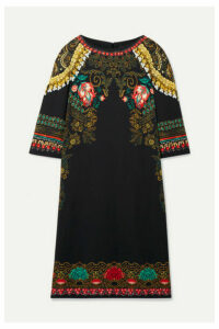 Etro - Printed Crepe Dress - Black