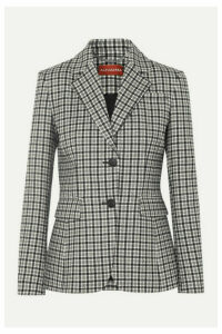 Altuzarra - Fenice Checked Wool-blend Twill Blazer - Gray