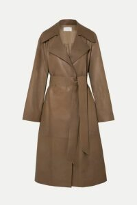 The Row - Efo Belted Leather Trench Coat - Beige