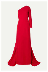 Carolina Herrera - One-shoulder Draped Silk-crepe Gown - Red