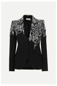Alexander McQueen - Crystal-embellished Crepe Blazer - Black