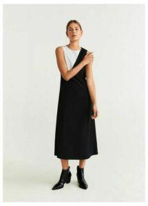 Monochrome textured dress