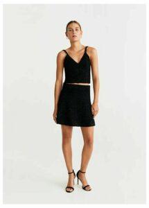 Metallic details miniskirt