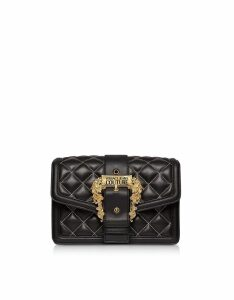 Versace Jeans Couture Designer Handbags, Quilted Nappa Leather Crossbody Bag w/ Buckle