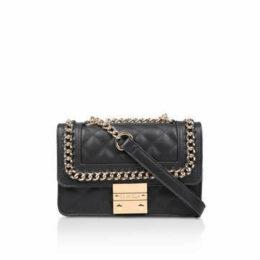 Carvela Mini Bailey X Body - Black Quilted Cross Body Bag