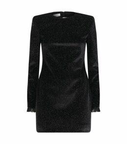 Velvet Glitter Mini Dress