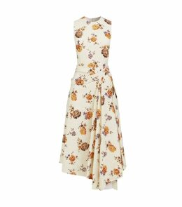 Floral Asymmetric Pleat Dress
