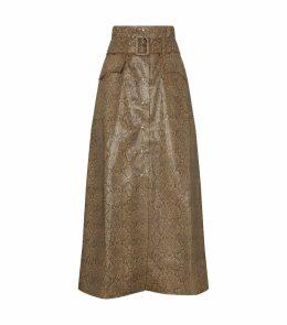 Aarohi Faux Snake Skirt
