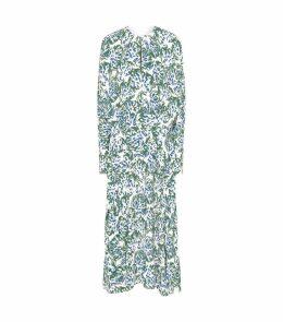 Draped Floral Dress