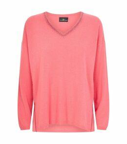 Swarovski Crystal-Embellished Cashmere Sweater