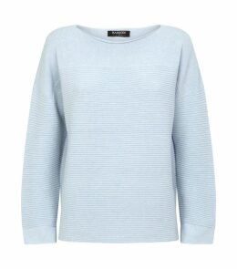 Ribbed Detail Cashmere Sweater
