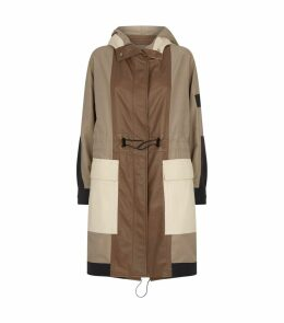 Leather-Panelled Hooded Parka