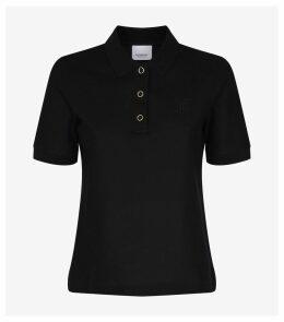 TB Monogram Cotton Piqué Polo Shirt