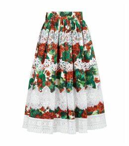 Portofino Print Midi Skirt