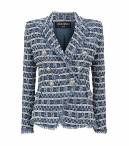 Double-Breasted Tweed Blazer