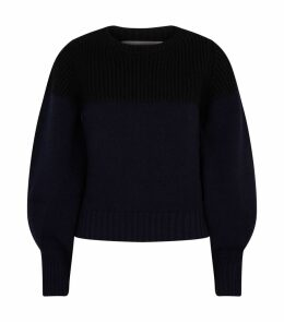 Cashmere Contrasting Knit Sweater