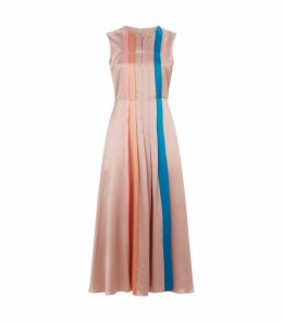 Tiera Silk Pleated Dress