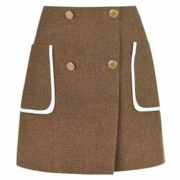 Fendi Button Skirt