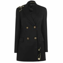 Versace Safety Pin Wool Coat