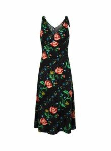 Womens **Multi Coloured Floral Print Slip Dress, Multi Colour