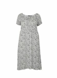 Womens **Dp Curve White Gypsy Midi Dress- White, White