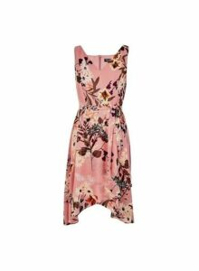 Womens **Billie & Blossom Pink Floral Print Wrap Dress- Pink, Pink