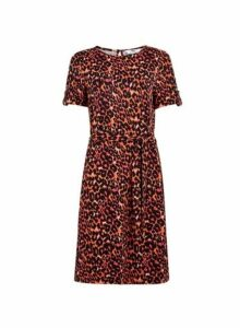 Womens **Tall Multi Colour Animal Print T-Shirt Dress, Multi Colour