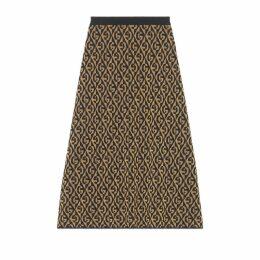 G rhombus lamé wool jacquard skirt