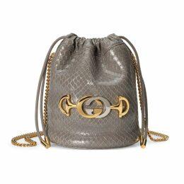 Gucci Zumi python mini bucket bag