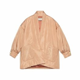 Silk bomber jacket with scarf
