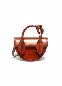'Dolores' knot handle leather crossbody bag