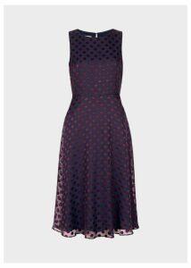 Adeline Dress Navy Burgundy